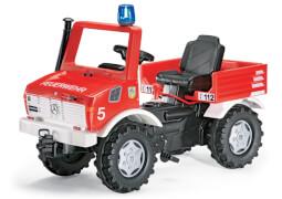 rollyToys Feuerwehr Unimog mit Schaltung und Bremse