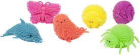 Fluffy Zoo mit Licht, 6-fach sortiert