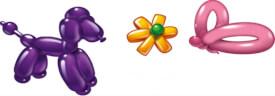 Modellierballons, bunt, 20 Stück, mit Pumpe
